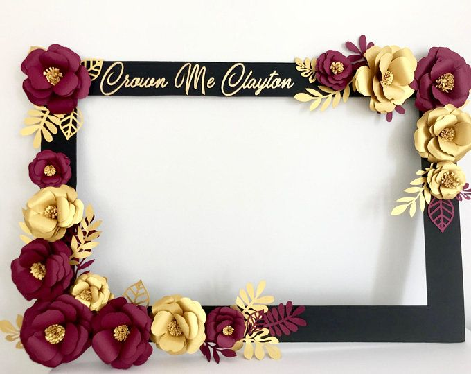 Floral Photo Booth Frame Wedding Birthday Party Selfie Frame Paper Flowers Shower Party Decorations Birthday Floral Frame Wedding Frames Photo Booth Frame Party Photo Frame