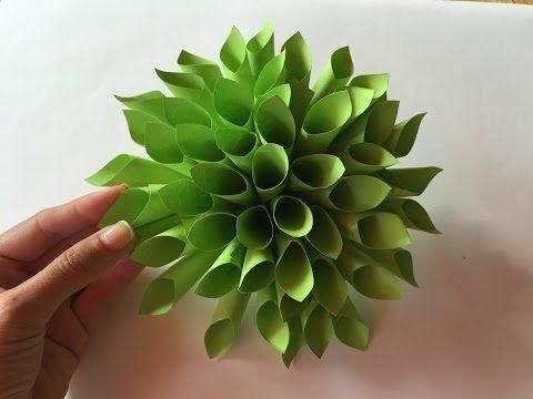 Como hacer una flor de papel - YouTube