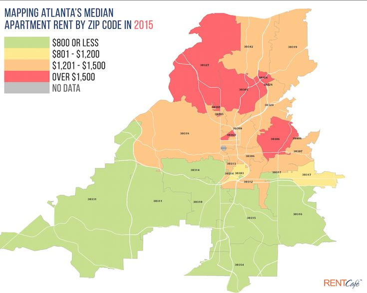 Have the rent-hike blues got you down, Atlanta? No matter — move! A new heatmap by RENTCafé.com, a nationwide apartment search website, clearly illustrates where deals on apartments can...