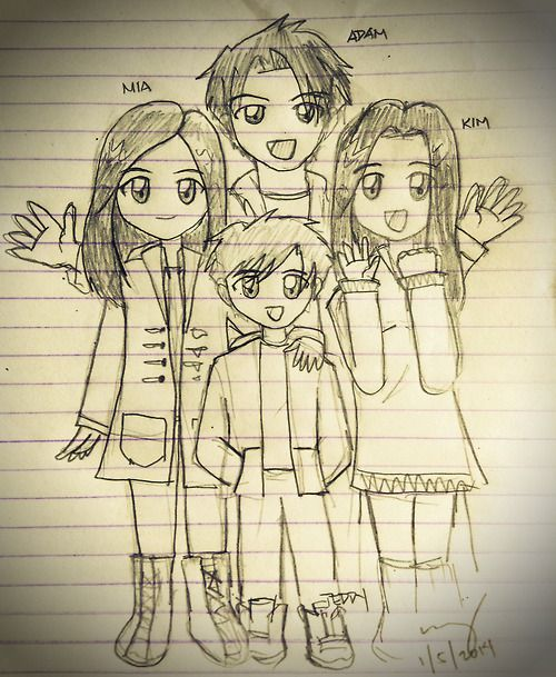 denisewy:  I got really bored so…. If I Stay fan art sketch  Adorable! :)