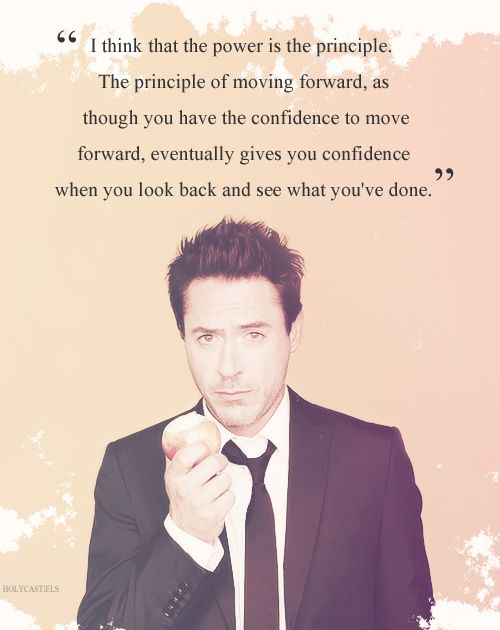 Robert Downey Jr.---- it makes sense
