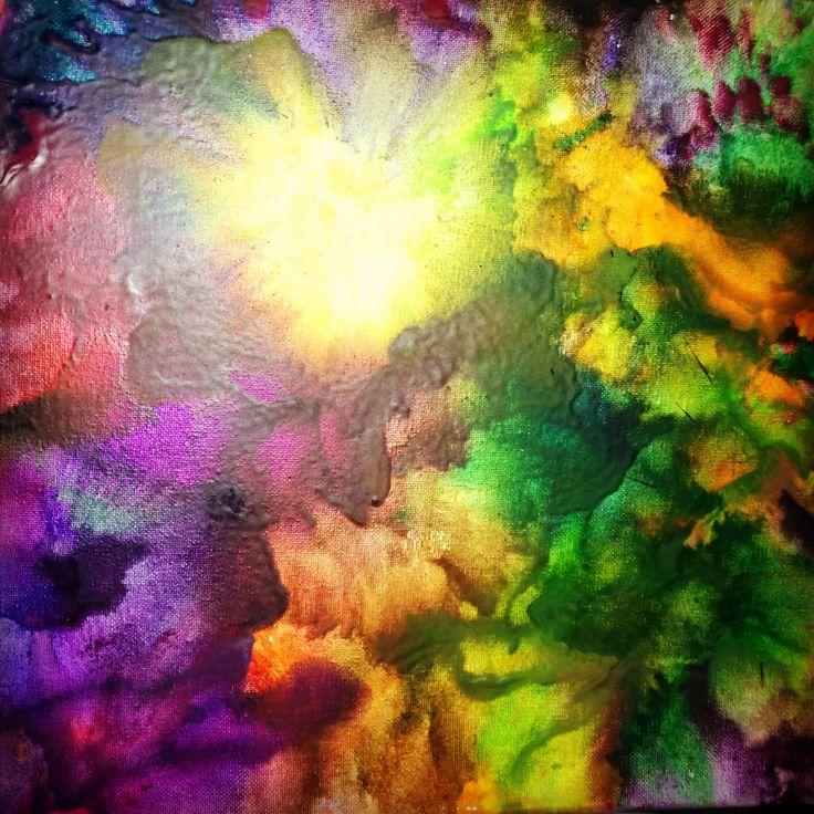 Crayon / art / melted crayon / fun