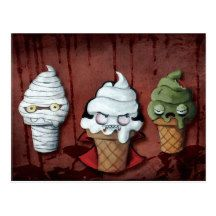 Monster-Halloween-Team! Postkarte | Zazzle