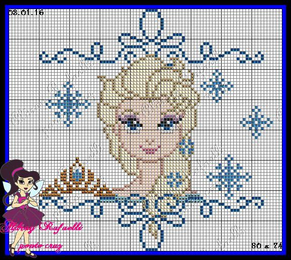 Queen Elsa - Frozen pattern by Aldray Ferreira