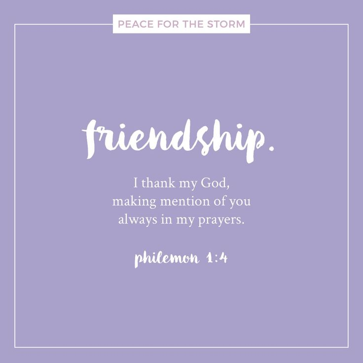 "Happy National Friendship Day! We praise the Lord for all our friends. And the best Friend we can ever have is Jesus! ""I thank my God, making mention of you always in my prayers."" Philemon 1:4 (NKJV)"
