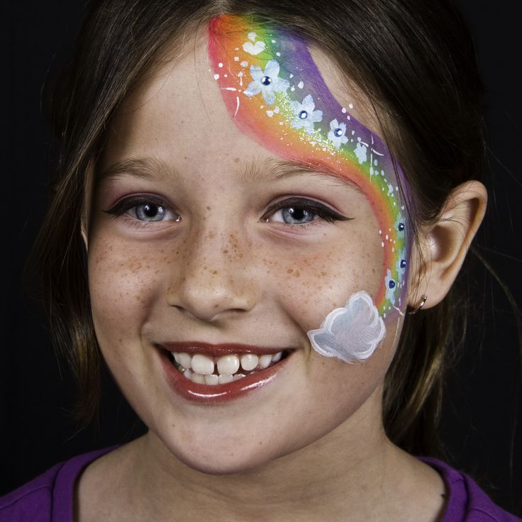 rainbow flowers festival face painting your total entertainment face painting rainbows. Black Bedroom Furniture Sets. Home Design Ideas