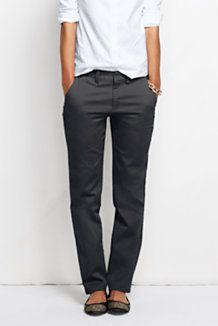 Women's Fit 1 Fit 2 Straight Pants & Crops from Lands' End