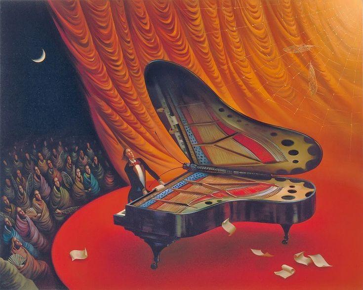 Нежные, насыщенные краски, слегка размытые линии и визуальные образы Сальвадора Дали, создают волшебный мир мечты и реальности картин Владимира Куша, одного из самых известных сюрреалистов современности