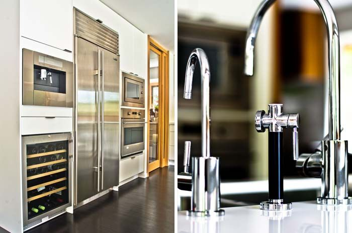 angus drive kitchen appliance wall & dornbracht faucets #mangodesignco