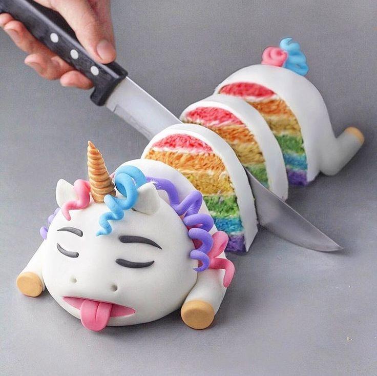Regenbogen 🌈 Einhorn 🦄 Kuchen