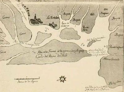 mapa2PUERTO DE VALDIVIA EN EL SIGLO XVII
