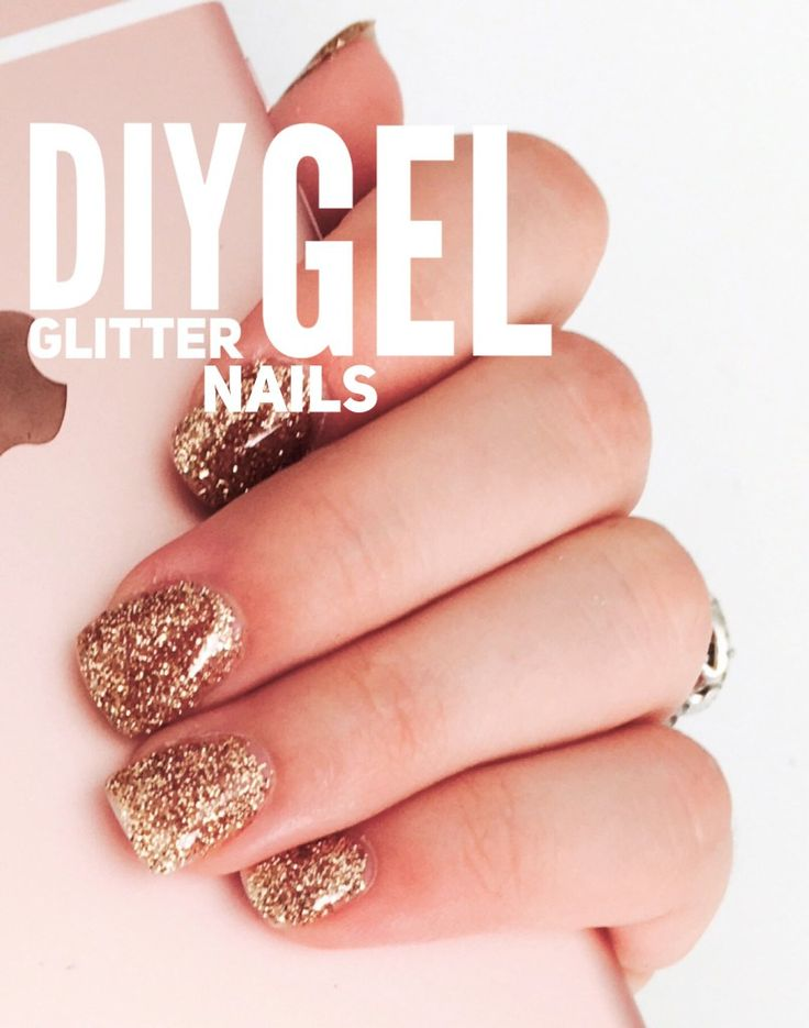 DIY Glitter Gel Nails. Easy at home glitter gel nails! Seriously anyone could do it! Life on Waller a diy and how-to blog