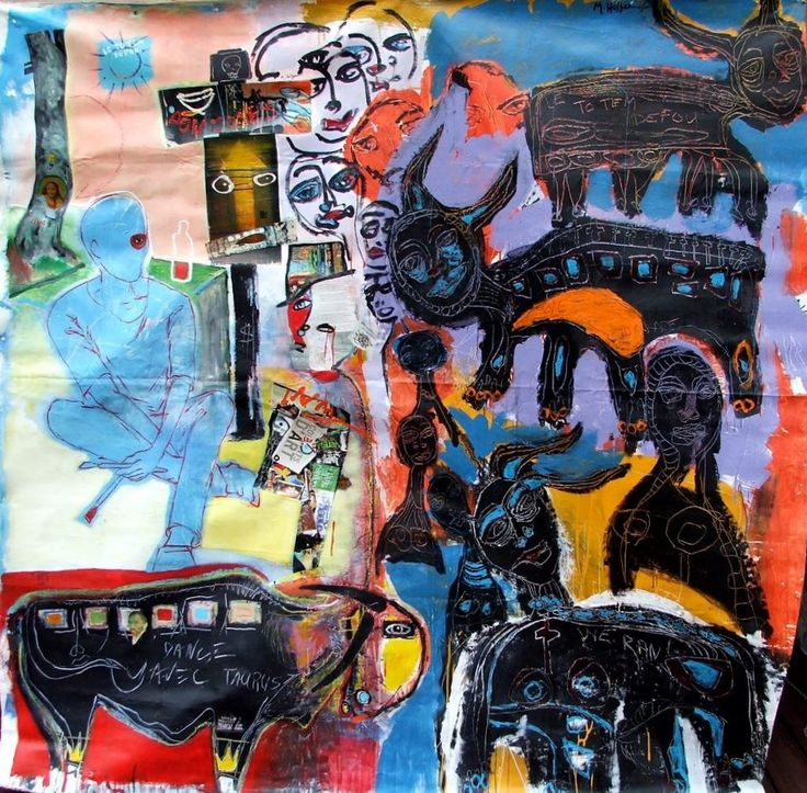 Outsider art painting by Mike Hoffee and Mikey Welsh