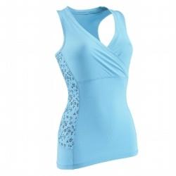 Fitness_Fitnesskleding Kleding - Top Actizen blauw DOMYOS - Tops, Topjes BLUE