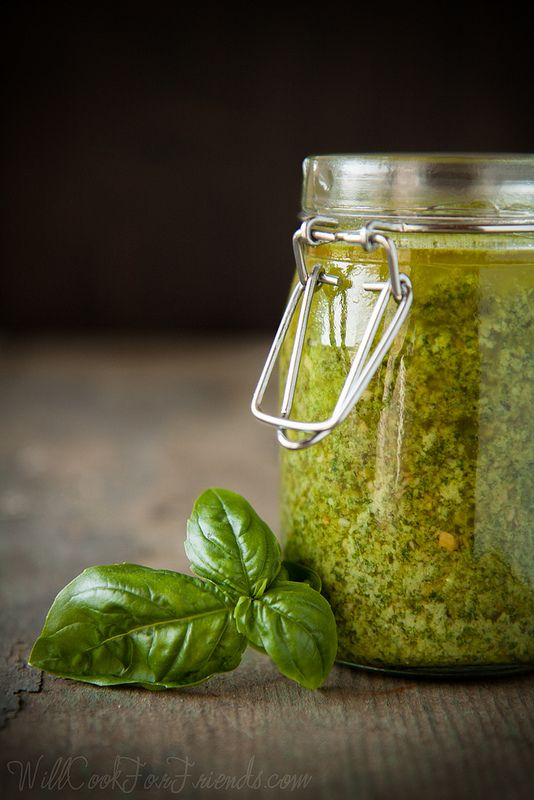 Simple basil & sunflower seed pesto