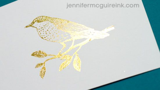 5 Ways To Add Gold Foil Video by Jennifer McGuire Ink