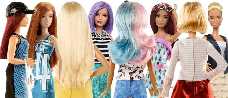 Barbie 2016 má nové účesy i tělo – a hned několik! – VLASY A ÚČESY