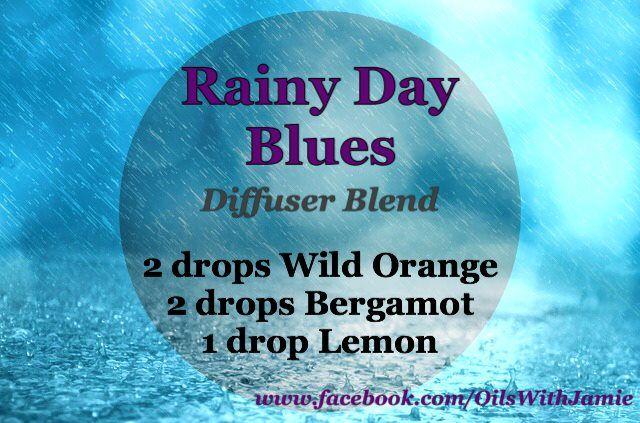 Don't let the rain get you down! Diffuse 2 Wild Orange, Bergamot, and Lemon. http://www.mydoterra.com/jamiedibble