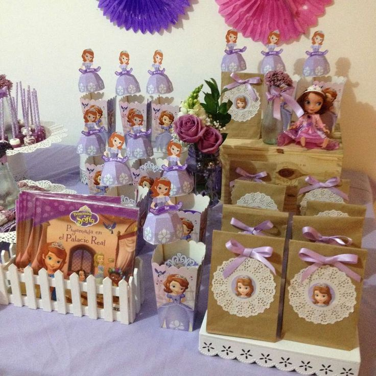 Sofia the First birthday party favors! See more party planning ideas at CatchMyParty.com!