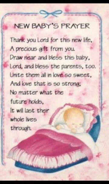 Prayer for newborn