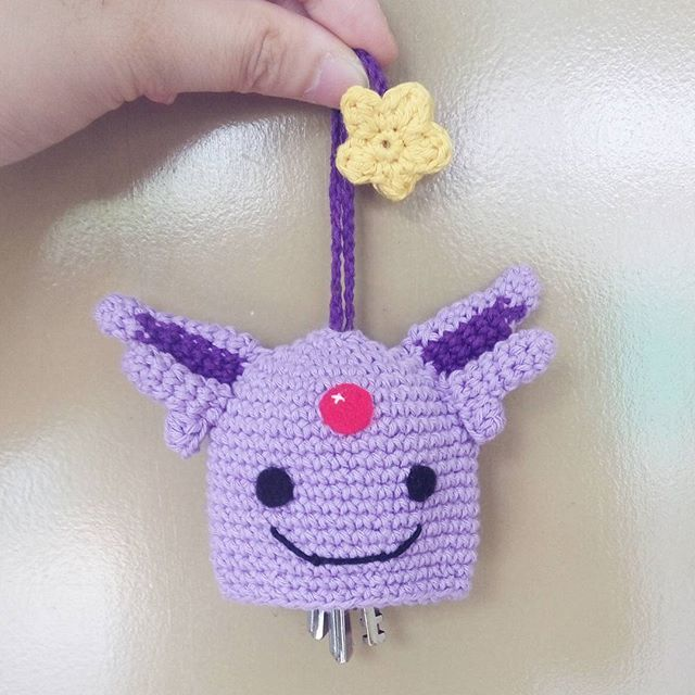 Who's that #pokemon?! Ditto espeon #keycover Length 8cm .  Contact me to order, customs available