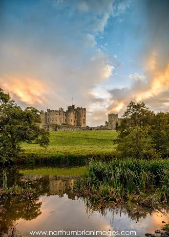 Norman Alnwick Castle in Northumberland, England