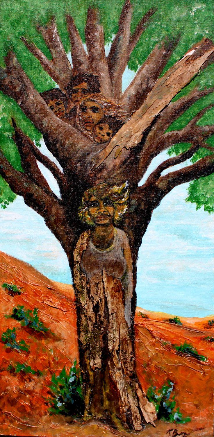 """No 6 """"The Hidden children of the Tree"""" $120"""