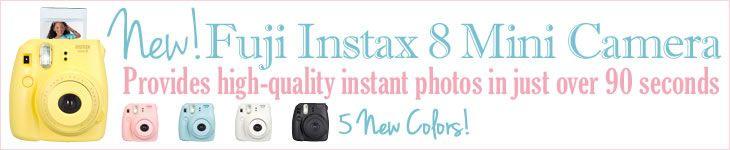 New! Fuji Instax Mini 8 Instant Camera.