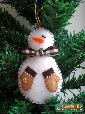 Free Felt Christmas Ornament Patterns | International Craft Patterns, felt snowman ornament