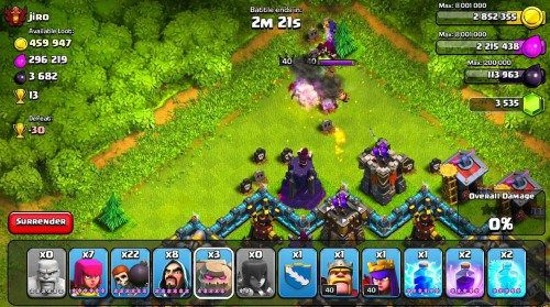 Game Penguras Baterai Smartphone Android - Clash of Clans (Supercell)