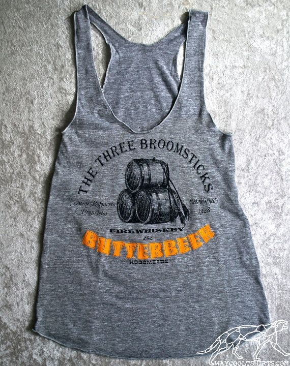HARRY POTTER RACERBACK Womens American Apparel Tank Top - Have a Butterbeer with some friends at The Three Broomsticks on Etsy, $22.00