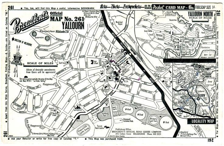 Yallourn map - 1958