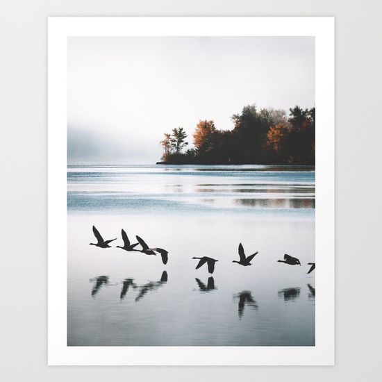 Serene Mornings Art Print by Rustic Bones. Worldwide shipping available at Society6.com. Just one of millions of high quality products available.