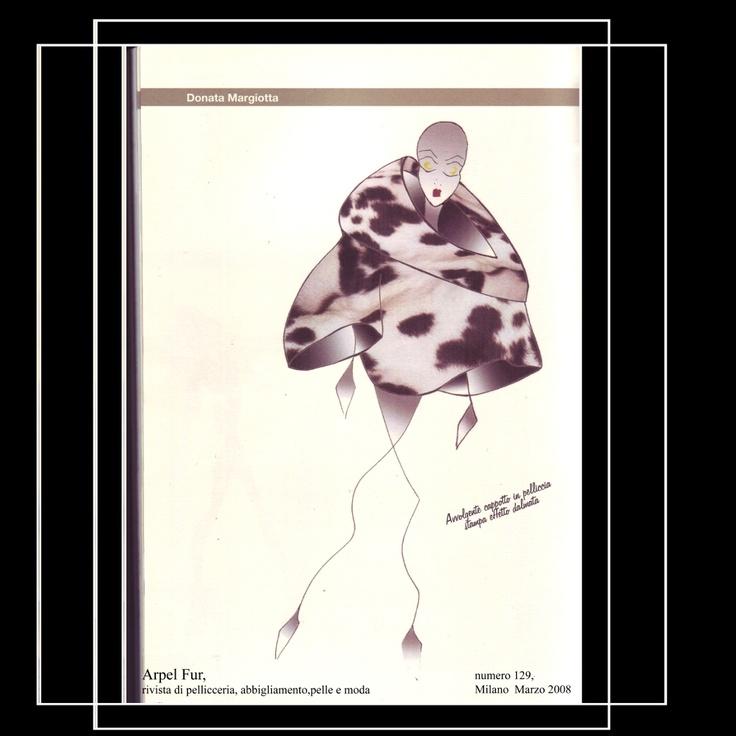 "Ilustración realizada por Fur ""Abrigo de Pelo"" de Donata Margiotta"