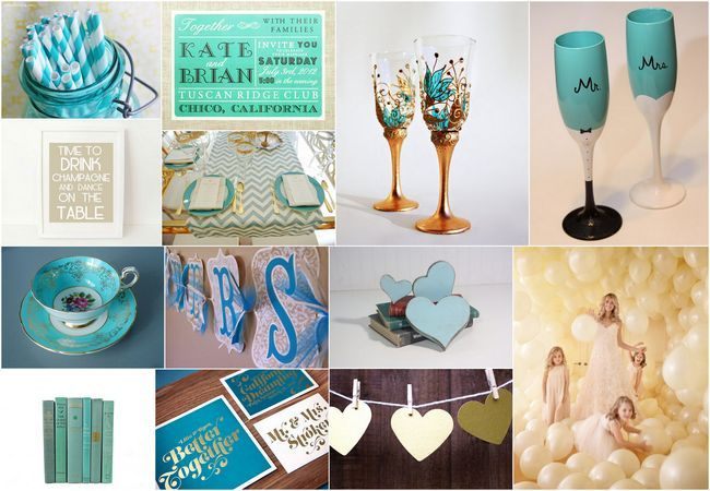 7 best images about turquoise theme wedding on pinterest for Turquoise gold wedding theme