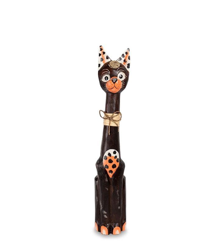 Статуэтка «Кошка» 35-090 (о. Бали)      Страна производства: Индонезия;   Материал: албезия;   Высота: 60 см;          #figurines #cats #Indonesia #кошки #статуэтки #фигурки #индонезия #дерево #албезия #wood
