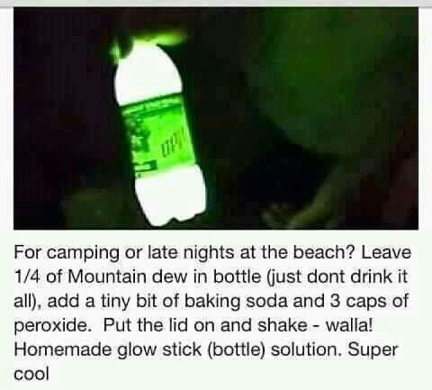 Cool idea...  But, really...  People actually drink this and it can glow with just two basic household items?  Ewww....