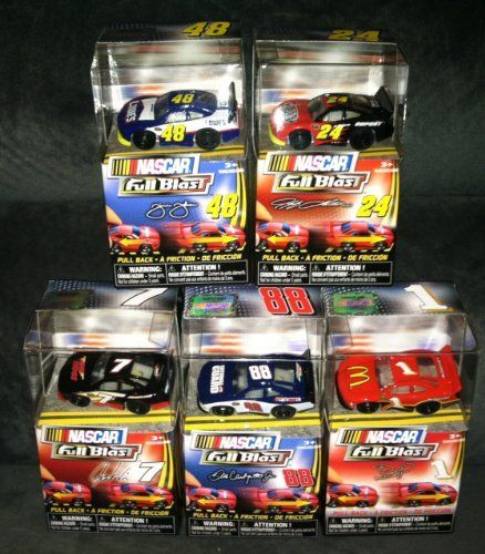 NASCAR - Pull-Back Mini Car Figure Collection of 5 - (Earnhardt Jr, Jeff Gordon, Jimmie Johnson, Jamie McMurray, Josh Wise) by Spin Master. $18.95. Ages 4+. Pull them back and watch them go. Jeff Gordon, Dale Earnhardt Jr., Jamie McMurray, Jimmie Johnson, Josh Wise. Set of 5 Nascar Pull-Back Mini Figure Cars. Set of 5 Nascar Pull-Back Mini Figure Cars