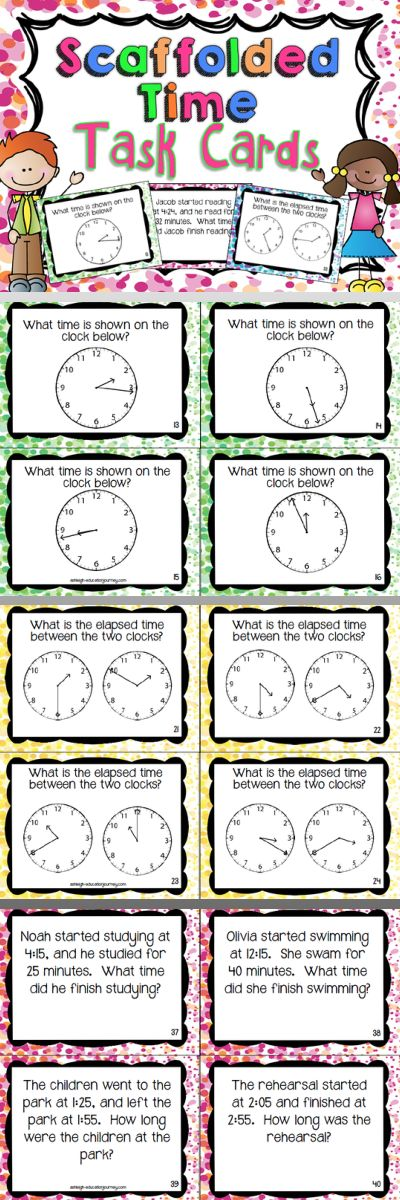 Excellent elapsed time task cards!  A great center task or group-work assignment!