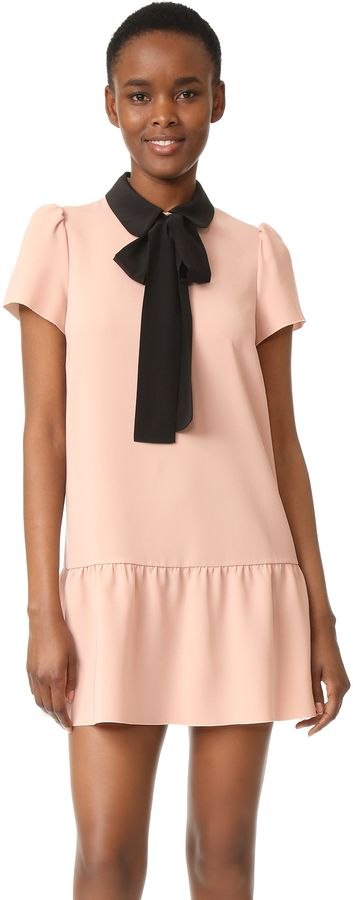 RED Valentino Tie Neck Dress