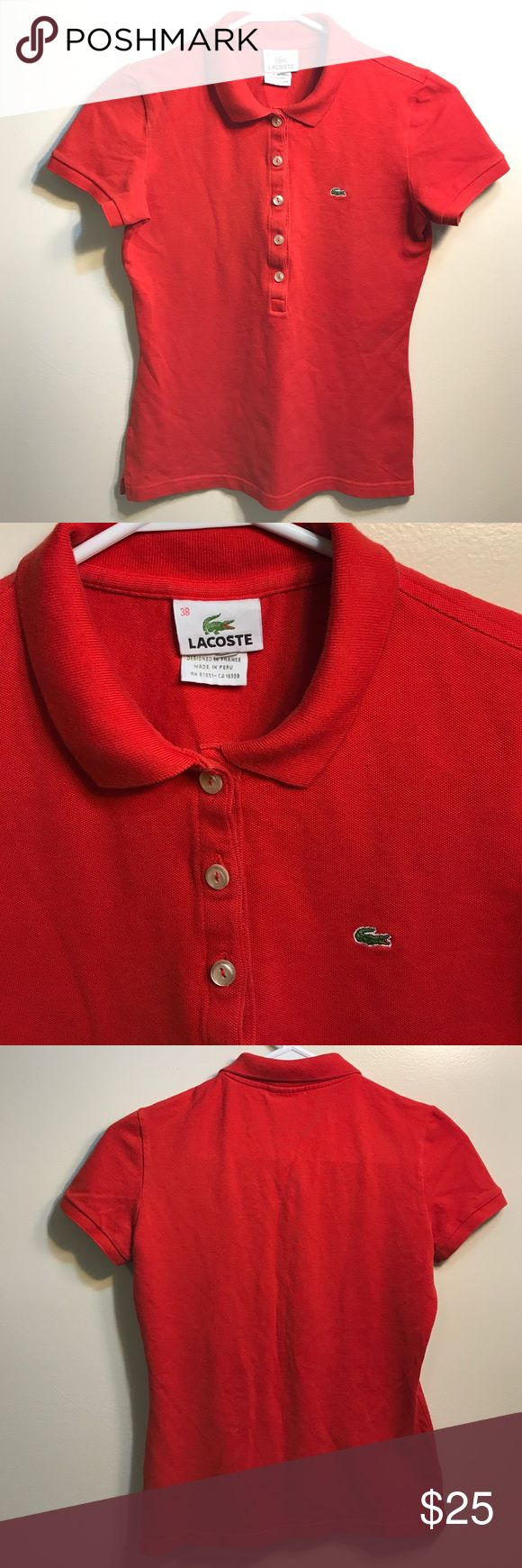 Lacoste Polo Shirt Pre-Loved. Used Lacoste Tops Button Down Shirts