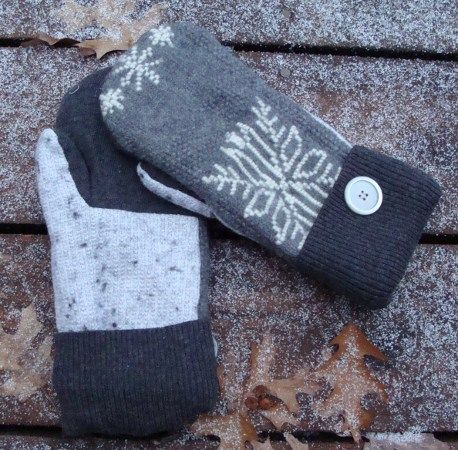 Sweater Mittens, Sweater Mitten Pattern, Forest Quilting, Diy Sweater ...