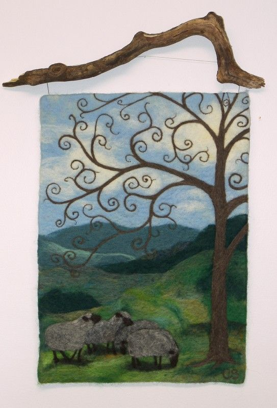 needle felting wall hangings | Needle-felted wool wall hangings, wool art, felted wool, needle felted ...
