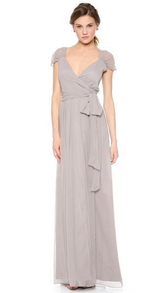 Cool Satin Deep V neck Natural A line Sleeveless Bridesmaid Dresses Grey Bridesmaid DressesWedding