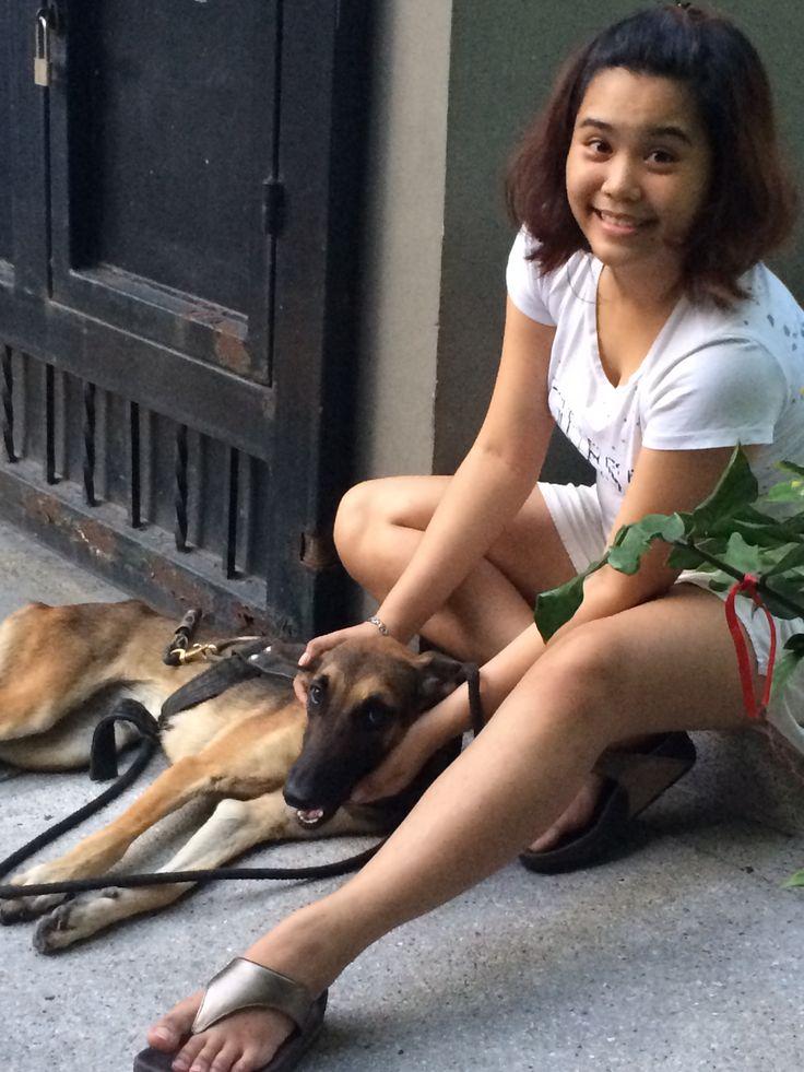 Agatha (Belgian Malamute) and me ☺️