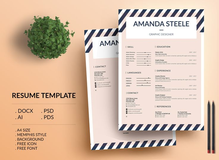 check out my behance project memphis resume template cv template letterhead - Letterhead Resume Cover Letter