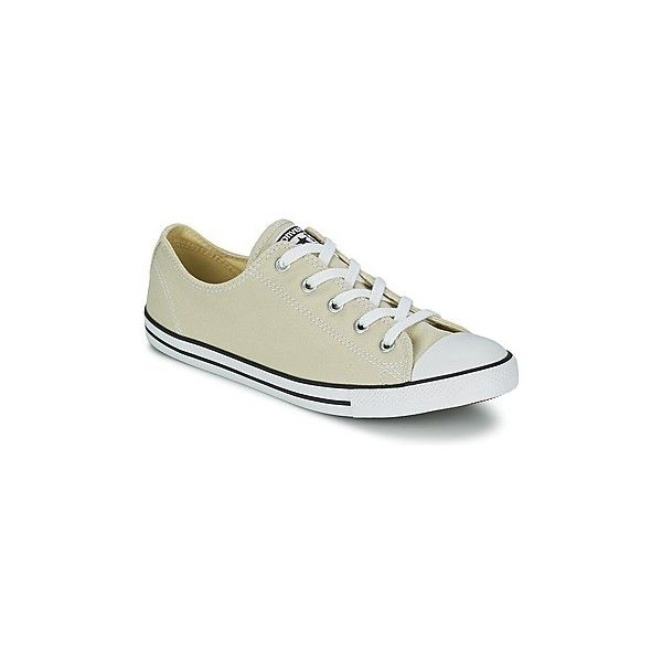 Converse DAINTY SEA OX Shoes ($78) ❤ liked on Polyvore featuring shoes, sneakers, beige, beige shoes, sporting shoes, converse footwear, sport sneakers and converse sneakers