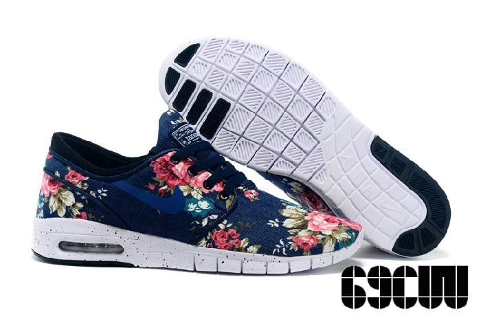 Beste Billige Nike Eric Koston 2 Max Blume Dunkelblau Schuhe, Billige Nike Air Max Discount