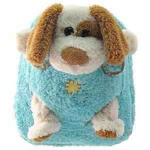 Kreative Kids Girls Boys Blue Dog Plush Backpack (Apparel): Boys Blue, Backpack Apparel, Blue Dog