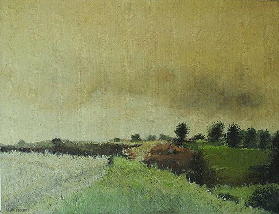 Oil painting original oil painting landscape on by BoostudioArte